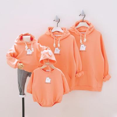 Sport Hoodies Family Matching Outfits for Family of Four Sweatshirt Baby Romper Family Looking Sweatshirts Set