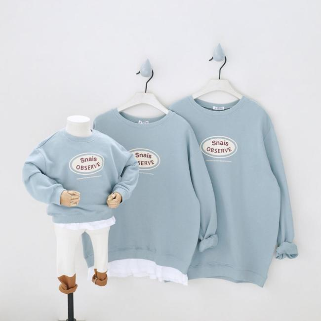 Parent-Child Tees Clothing Family Matching T-Shirts Outfits Sweatshirts for a Family of Three Suits
