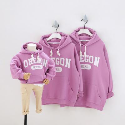 Family Matching Hoodies Outfits Sport Sweatshirts Mom Daddy Kids Suits Hooded Parent-Child Clothing Ducks Couple Wear