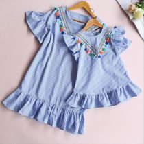 Family matching clothes Stripe Tassel Mini Dress Mom and daughter dress Summer Outfits
