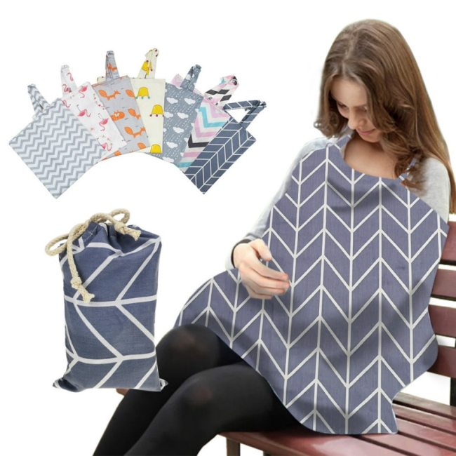Breathable Mother Breastfeeding Cover Cotton Muslin Baby Feeding Shawl Pads Outdoor Maternity Nursing Cover