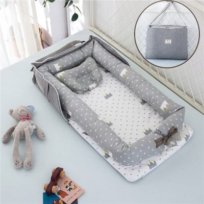 Removable Newborn Bed Baby Cot Nest Bed Bag Set Protect Cradle Cushion Bumper Portable Travel Crib