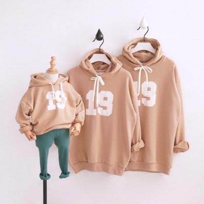 Father Mother kids Family Look Clothing Cartoon Family Matching Outfits Sweatshirts