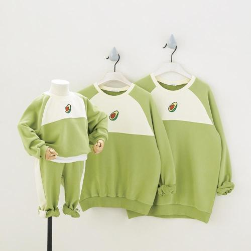 Sport Parent-Child Clothing Kids 2pcs/set Family Matching Outfits Cartoon Cute Lover Sweatshirts