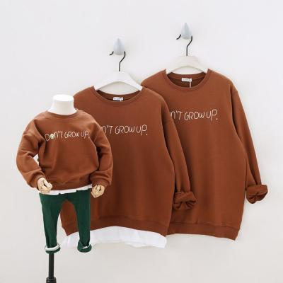 Family Matching Outfits Long Sleeve Tees Cotton Letters Family Look Clothing Sweatshirts Lover Clothes