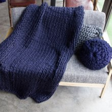 Hand Knitted Chunky Blanket Thick Yarn Weighted Wool Bulky Knitting Throw Blanket Home Sofa Bed Throws Blankets