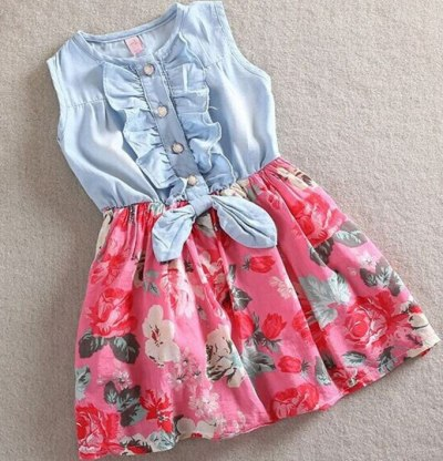 Mother and Daughter Dresses Family Matching Clothes Ruffles Sleeveless Floral Dress Elegant Flower Outfit