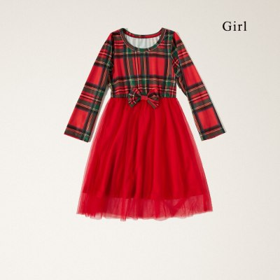 Christmas Dress For Mom and daughter dress Plaid Mother and daughter clothes Party New Year Mommy and me clothes
