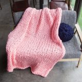 Chunky Knit Blanket Warm Soft Cozy for Sofa Bed Boho Home Decor