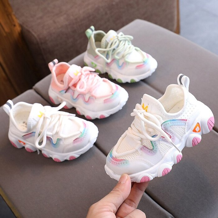 Toddler Boy Sneakers Fashionable Baby Running Shoes Pink School Girl Sports Shoes Sneakers