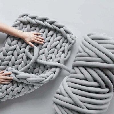500g Super Thick Chunky Yarn For Knitting DIY Knitting Blanket Pet Mat Hand Knitting Spin Yarn 10 Colors
