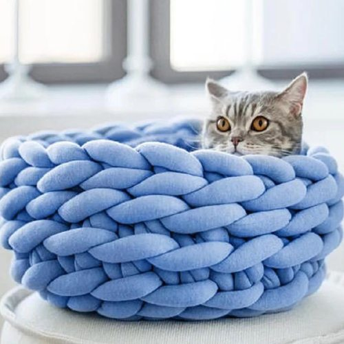 Super Thick Natural Wool Chunky Cotton Yarn DIY Bulky Arm Roving Knit Blanket Hand Knitting Spin Yarn