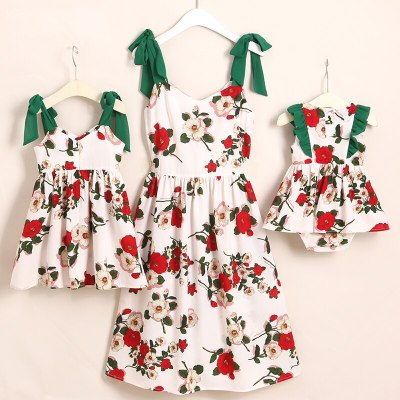 Family Look Butterflies Mother Daughter Dresses Mommy and Me Clothes Matching Dress Family Outfits