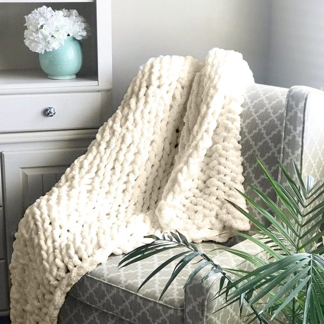 Nordic Photography Decorative Blanket Chenille Chunky Knitted Blanket Area Rug Mat Manual Weaving Blanket