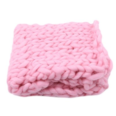 High Quality Hand-knitted Wool Crochet Baby Blanket Newborn Photography Props Chunky Knit Blanket