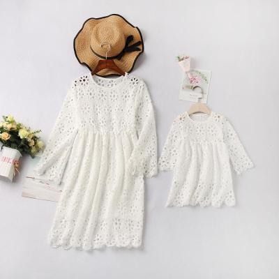 Lace mother daughter dress family look mommy and me matching dresses clothes outfits