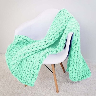 Super Thick Chenille Knitting Blankets Soft Warm Weaving Blankets For Home Bedding