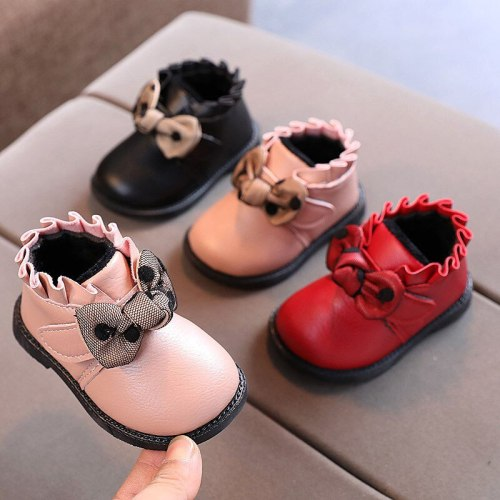 Baby Shoes Soft Sole Walking Shoes Winter Plush Warm Shoes Girl Cute Princess Snow Boots