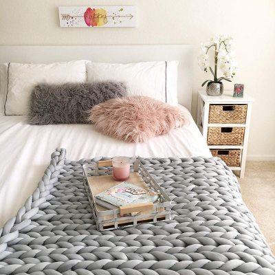 Thick Super Knitting Cotton Soft Chunky Yarn For Hand Knitting DIY Coarse Woolen Yarn