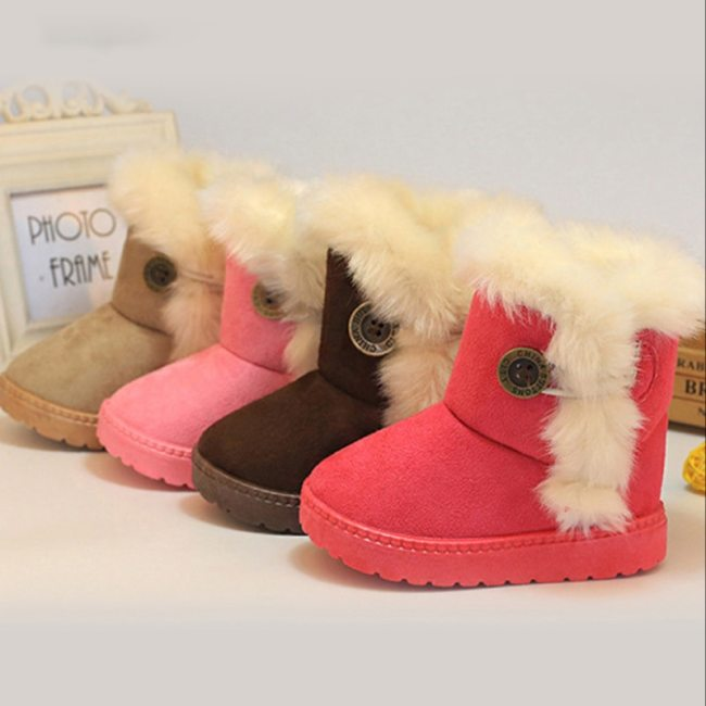 Classic Baby Plush Children Boots for Boys Girls Fur High Top Keep Warm Kids Shoes