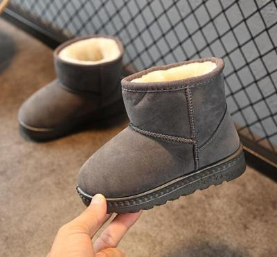 Winter Kids Fashion snow boots thick Child cotton shoes warm plush soft bottom girls short boots baby toddler boots
