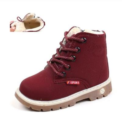 Children Casual Shoes Autumn Winter Martin Boots Boys Shoes Fashion Leather Girls Boots