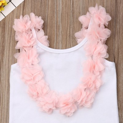 Women Girls 2PCS Backless Floral T-shirt Tulle Skirt Parent-child Leisure Flower Ball Gown Skirts Set Outfits