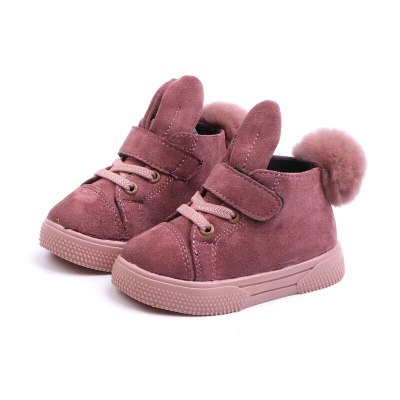 Baby Girls Leather Boots Fashion Pu Leather Children Snow Boots Kids Girls Warm Shoes