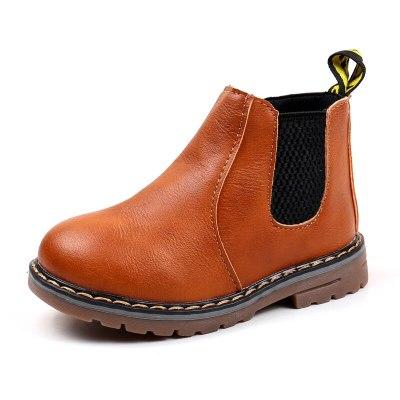 Children's Boots Boys Girls Baby Short Ankle Snow Boots Zipper Winter Shoes Kids Martin Booties