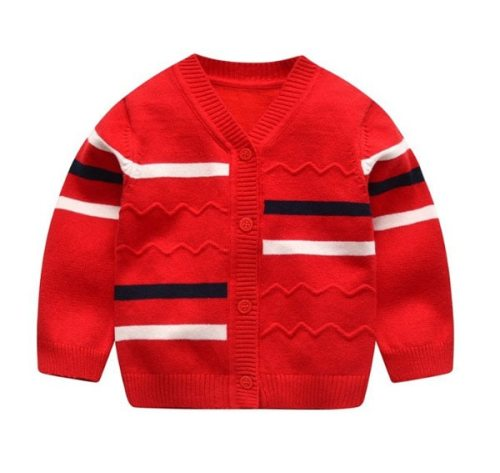 Baby boys sweater cardigan boy v-neck single-breasted sweater coat 0-24m