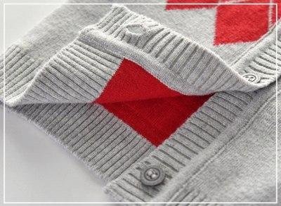 Newborn sweater baby v-neck single-breasted cotton sweater cardigan 0-12M