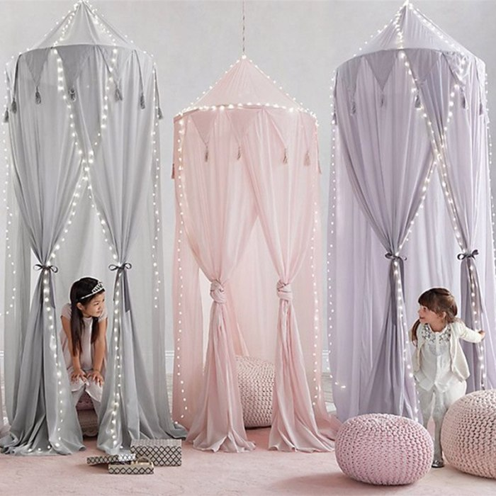 Baby Canopy Mosquito Net Girl Princess Bed Curtain Chidren Room Decoration Kids Play Tent House