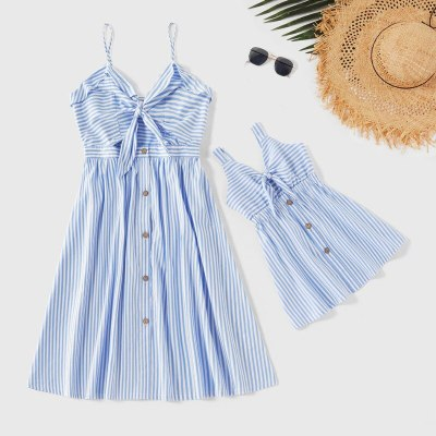 Family Matching Outfits Mother Daughter Dress Solid Mommy and me Clothes Family Look Dress