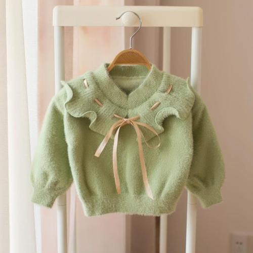 Sweater Clothes For Girl Flower Cute knit Wear Long Sleeve Princess Kid Children Girls