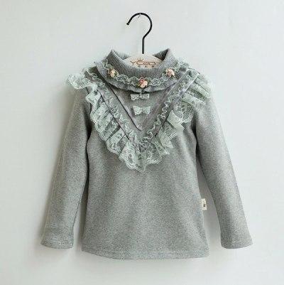 Children's undershirt girls long sleeve all cotton T shirt
