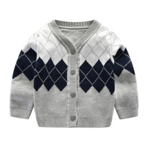 Newborn sweater baby v-neck single-breasted cotton sweater cardigan 0-12M