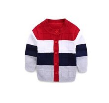 Baby Boys Cotton sweater cardigan striped O-Neck sweater 0-24months