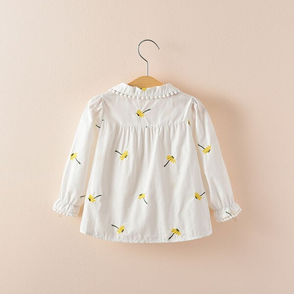 Baby long sleeve shirt fashion Girl's cotton Turn-down Collar blouse