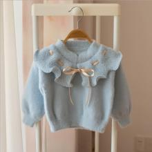 Sweater Clothes For Girl Flower Cute knit Wear Long Sleeve Princess Kid Children Girls