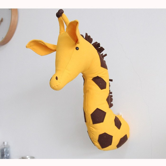 Nordic Stuffed Animal Head Toys Wall Decoration Kids Baby Room Wall Hanging Mounted Home Decor