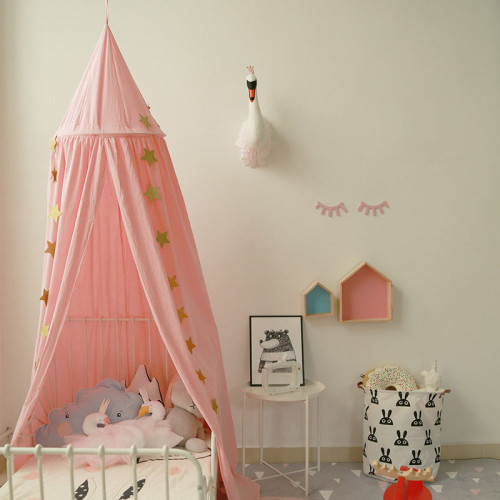 Cotton Baby Canopy Mosquito net Children Room Decoration Crib Netting Baby Tent Hung Dome Photography Props