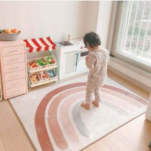 Floor Mat Newborn Baby Crawling Mat Rainbow Pattern Kids Play Mat Rugs Children Bedroom Carpet