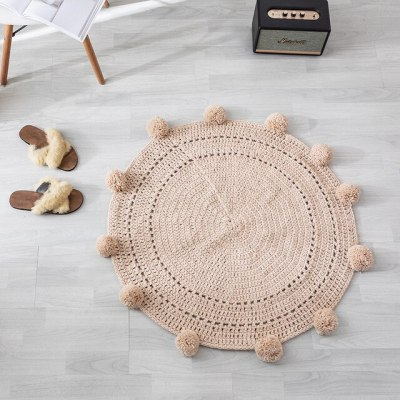 Knit Round Carpets For Baby Room Rugs Children Play Tent Floor Mat Baby Photograph Mat