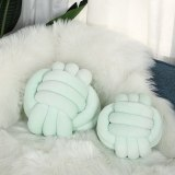 Solid Colors Sleeping Plush PP Cotton Stuffed Handmade Knotted Ball Futon Cushion Home Decor