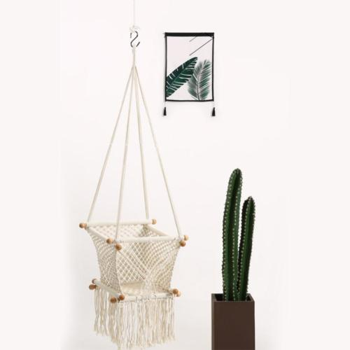 Baby Hanging Swing Seat Garden Hammock Chair Home Decoration Baby Cribs Cotton Woven Rope Swing