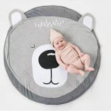 90CM Baby Play Crawling Mat Pad Round Carpet Rugs Cotton Animal Playmat Newborn Blanket Floor Carpet Kids Room Decor