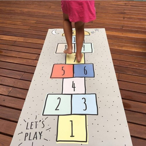 Baby Hopscotch Carpet Play Game Mat Children Infant Adventure Road Rugs Kids Activity Gym Crawling Mat