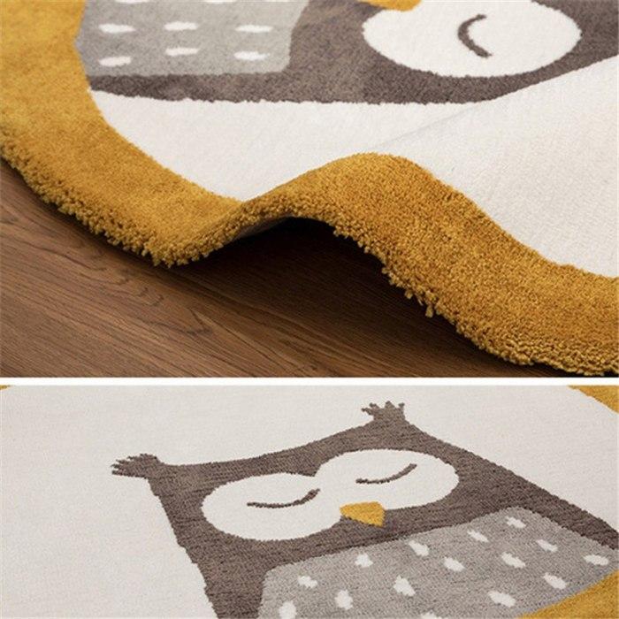 Nordic Kids Room Decoration Cartoon Animals Round Carpet play Floor Mat Bedroom Blanket Tent Anti-Slip Playmat