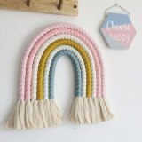 Nordic Kids Room Decoration DIY Rope Rainbow Decor Wall Hanging Handmade Weaving Ornament Home Decor Accessories