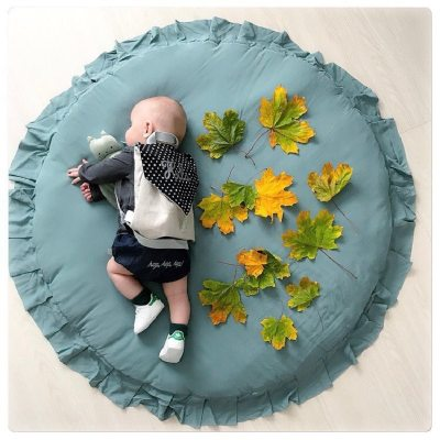 Nordic Newborn Baby Padded Play Mats Soft Cotton Crawling Mat Round Floor Carpet Room Decor